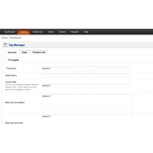 opencart Tag Seo插件Seo full features with tag manager